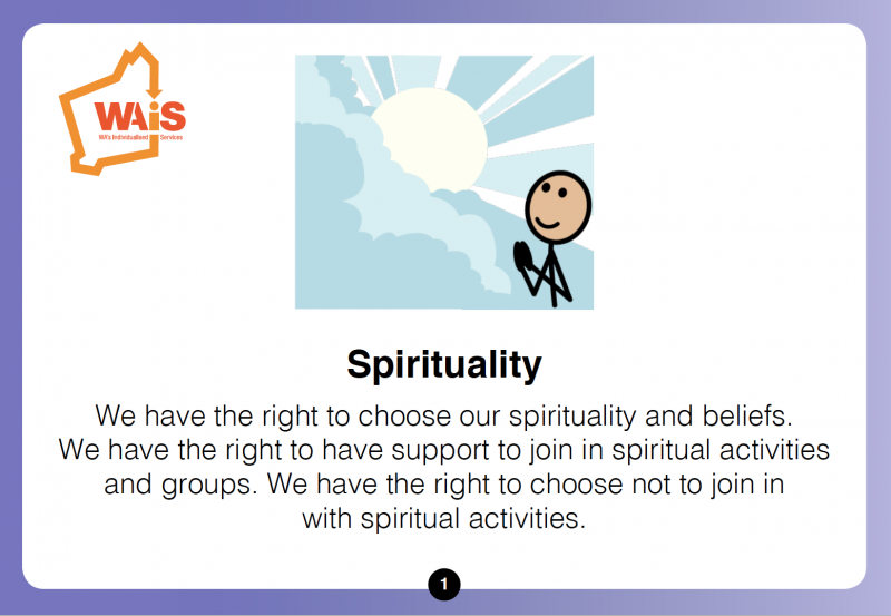 Spirituality planning cards