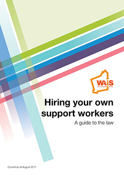 Image of front cover of hiring your own support workers resource WAiS