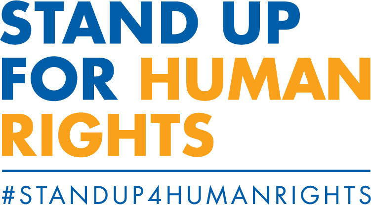 Image of words 'Stand Up for Human Rights'