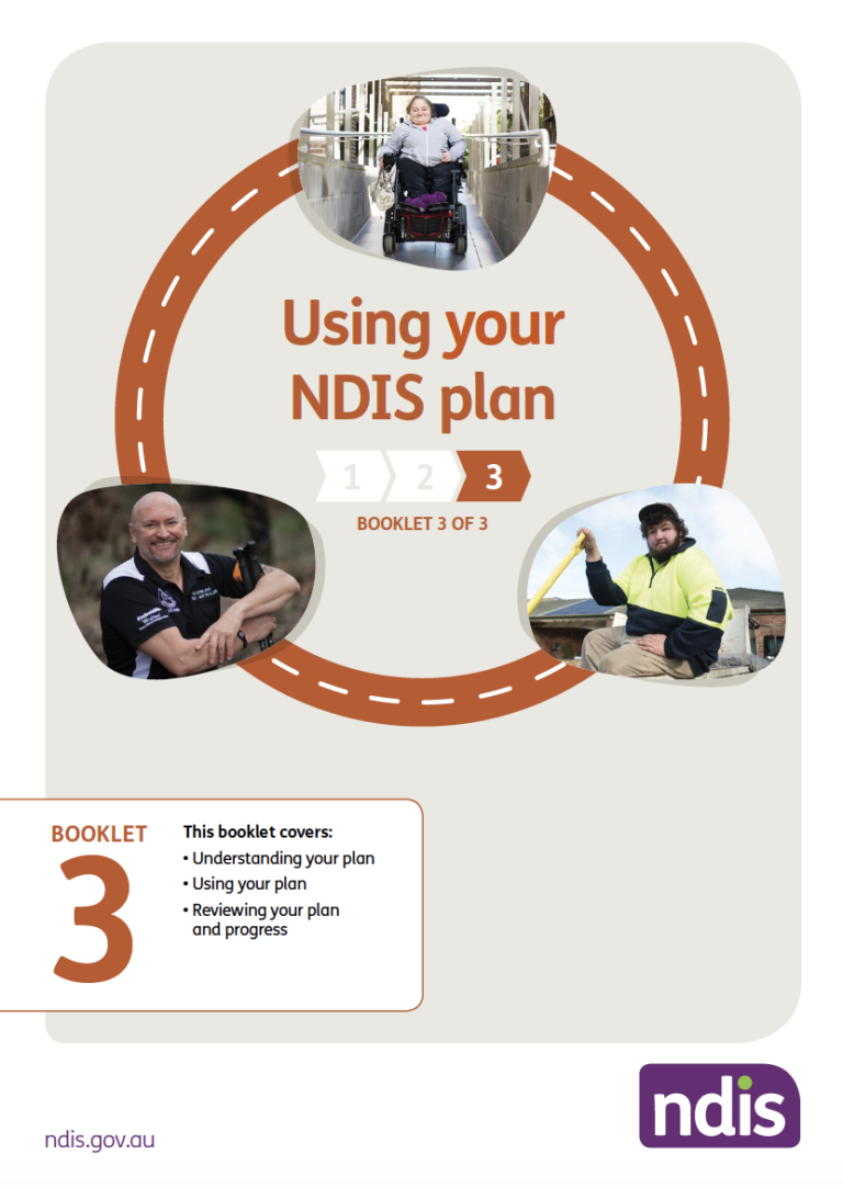 Image of cover of booklet 3 Using your NDIS plan
