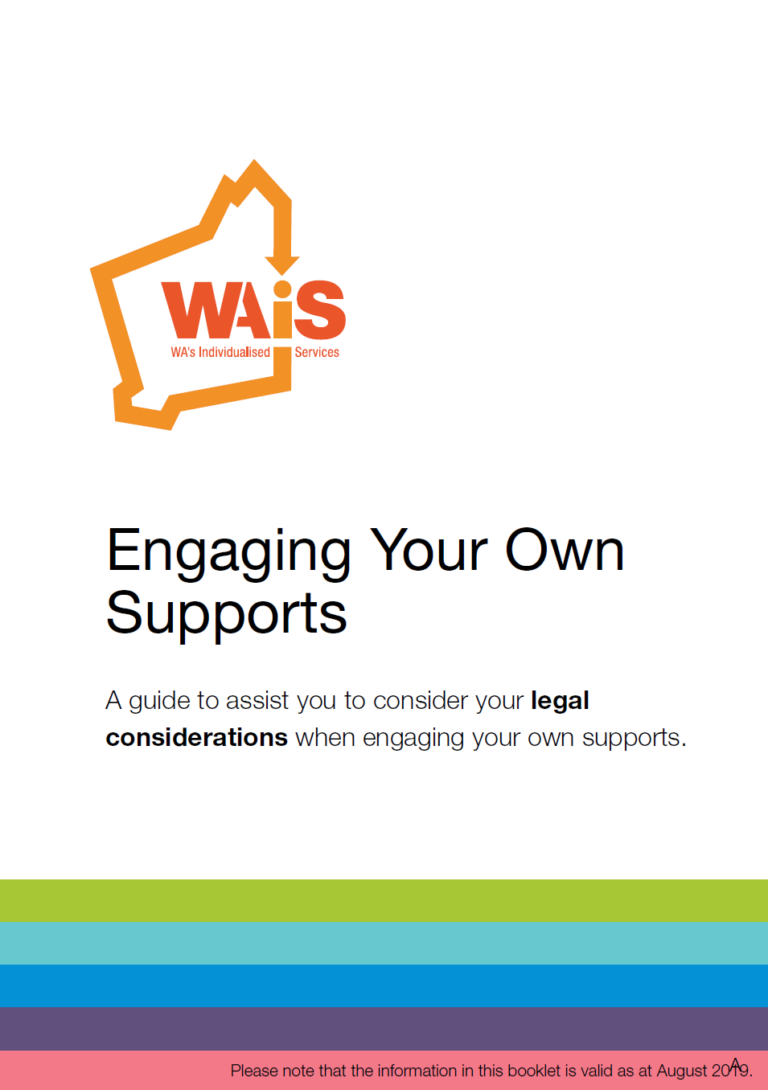 Cover of WAiS Engaging Your Own Supports Resource