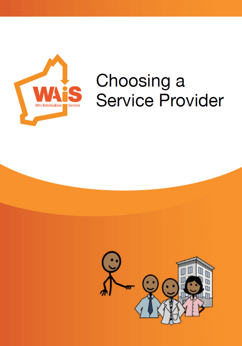 Choosing a Service Provider orange front cover