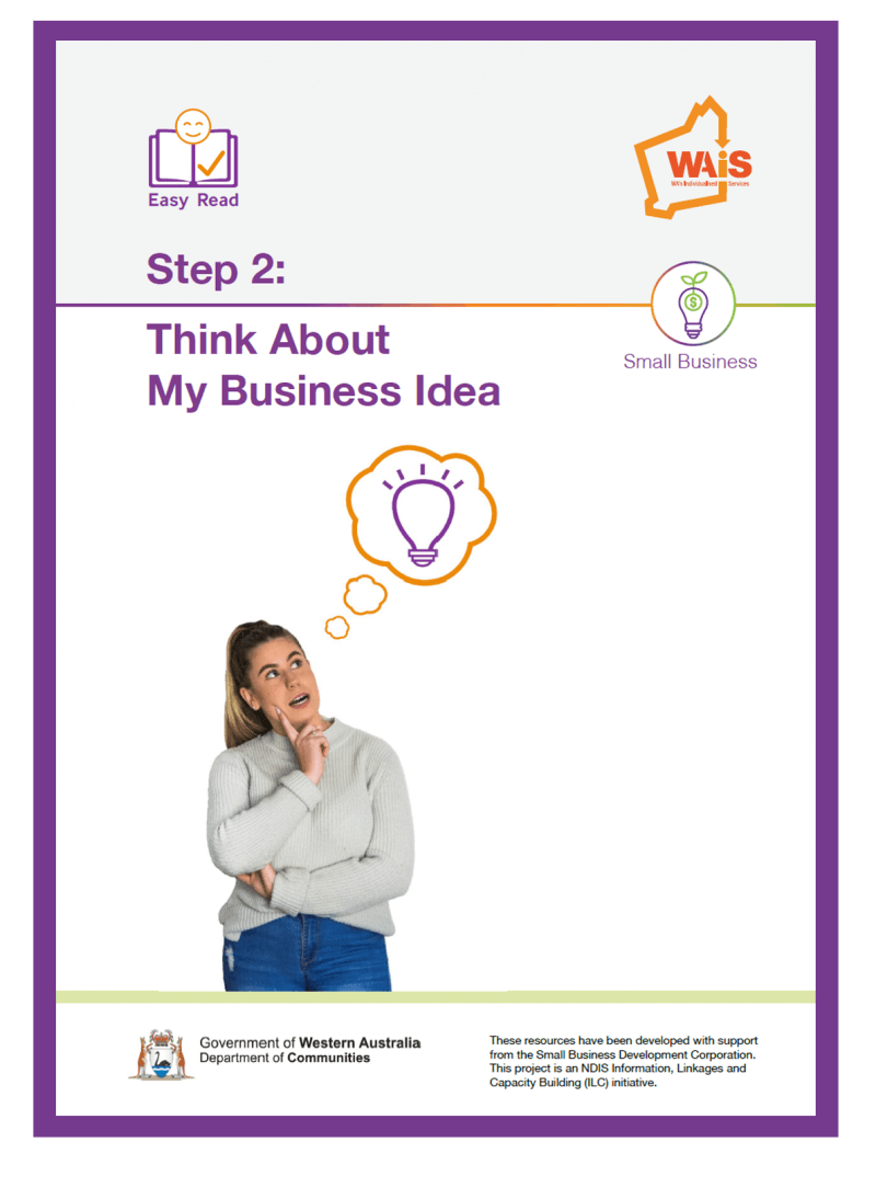 Image of cover of Step 2 Think about your business idea document