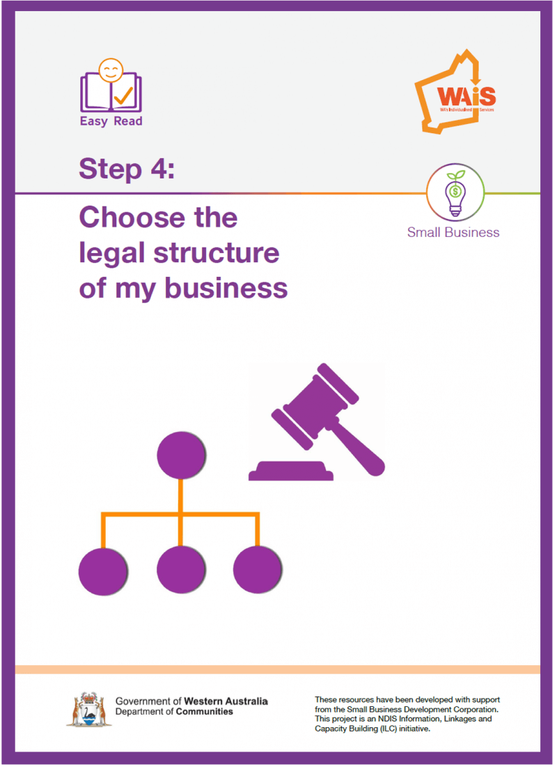 Image of cover of Step 4 Choose the Legal Structure of your business document