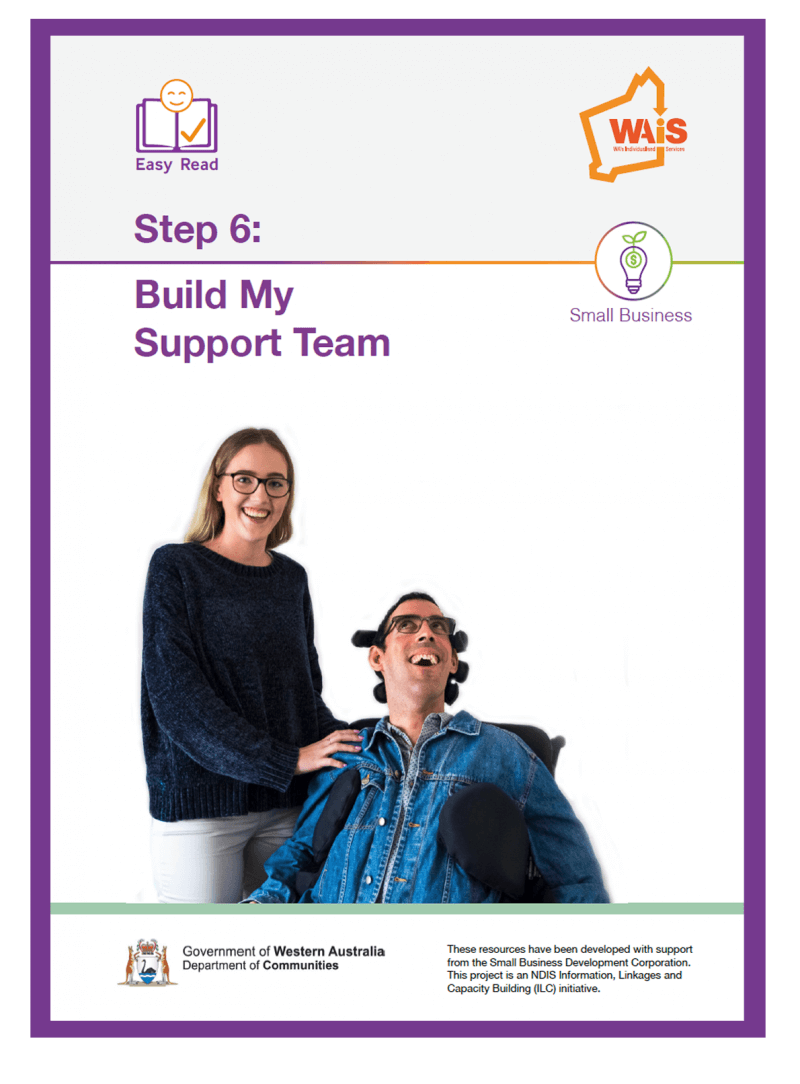 Image of cover of Step 6 Building your support team document