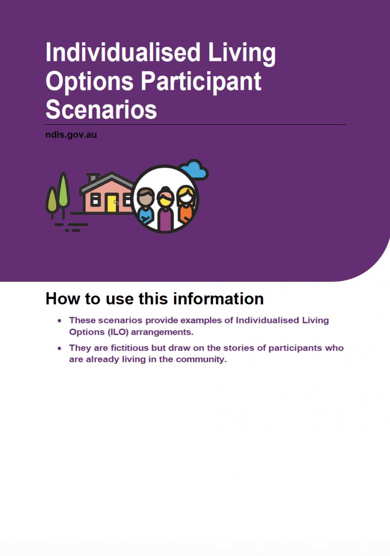 Individualised Living Options Participants Scenarios