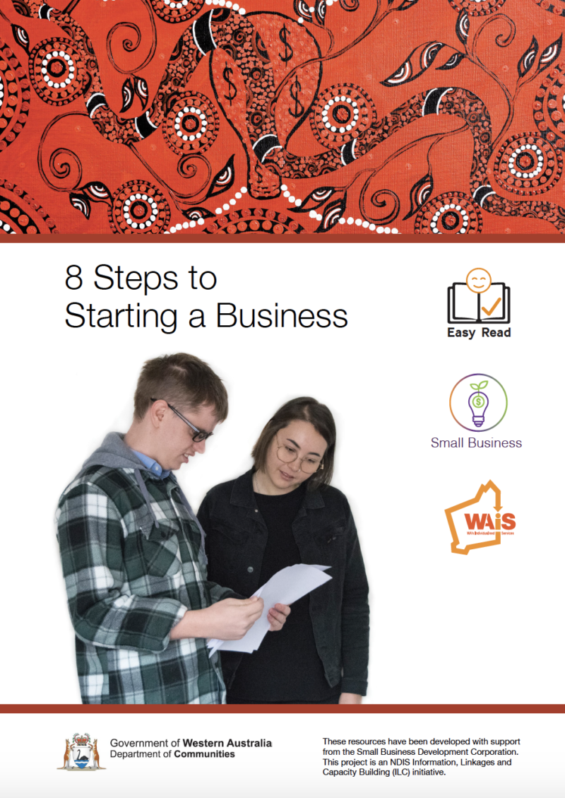 Image of cover of Indigenous version of 8 Steps to Starting a Business resource
