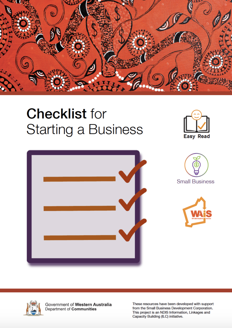 Image of cover of Indidegnous version Checklist for Starting a Business resource