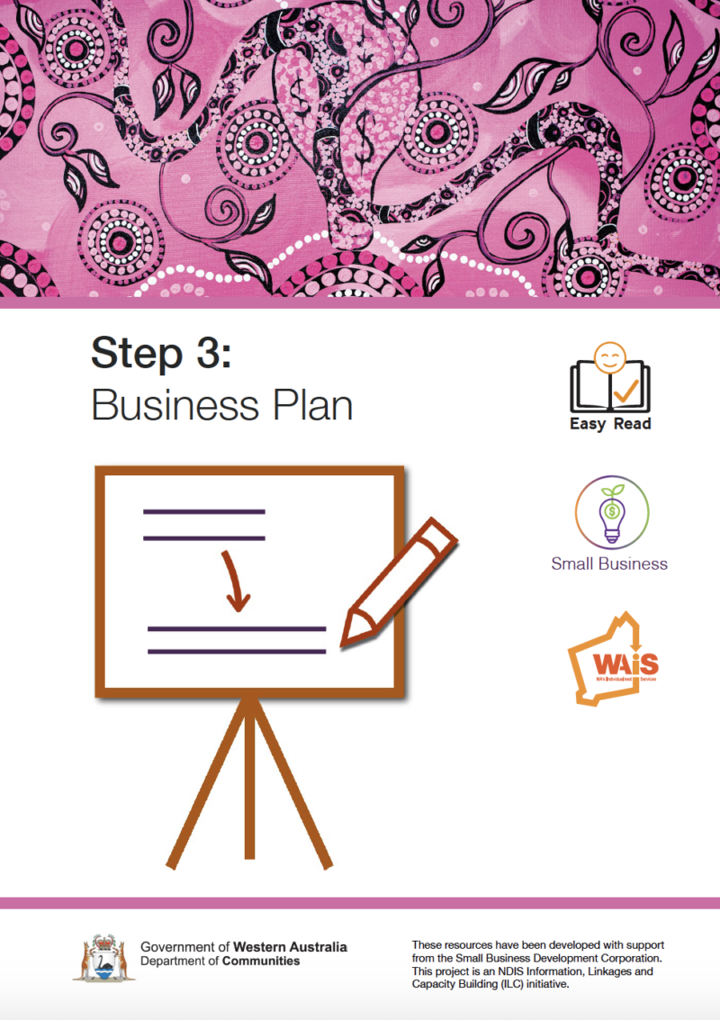 Image of cover of Step 3 Business Plan document