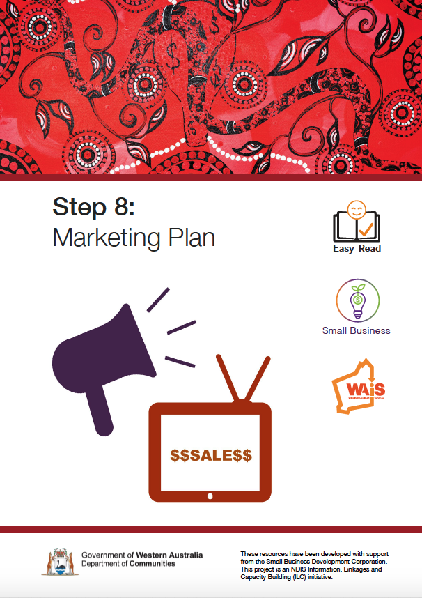 Image of cover of Step 8 Marketing Plan Document